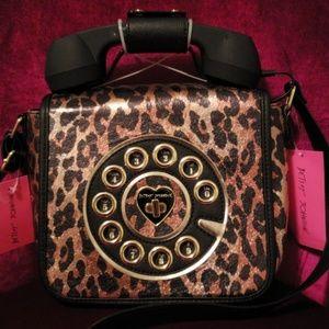 ⚘⚘⚘BETSEY JOHNSON Crossbody Bag w/retro phone